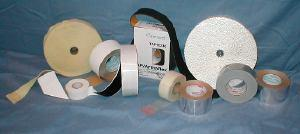 Matching facing tapes, woven or felted and foam tapes, cork filled mastic tape