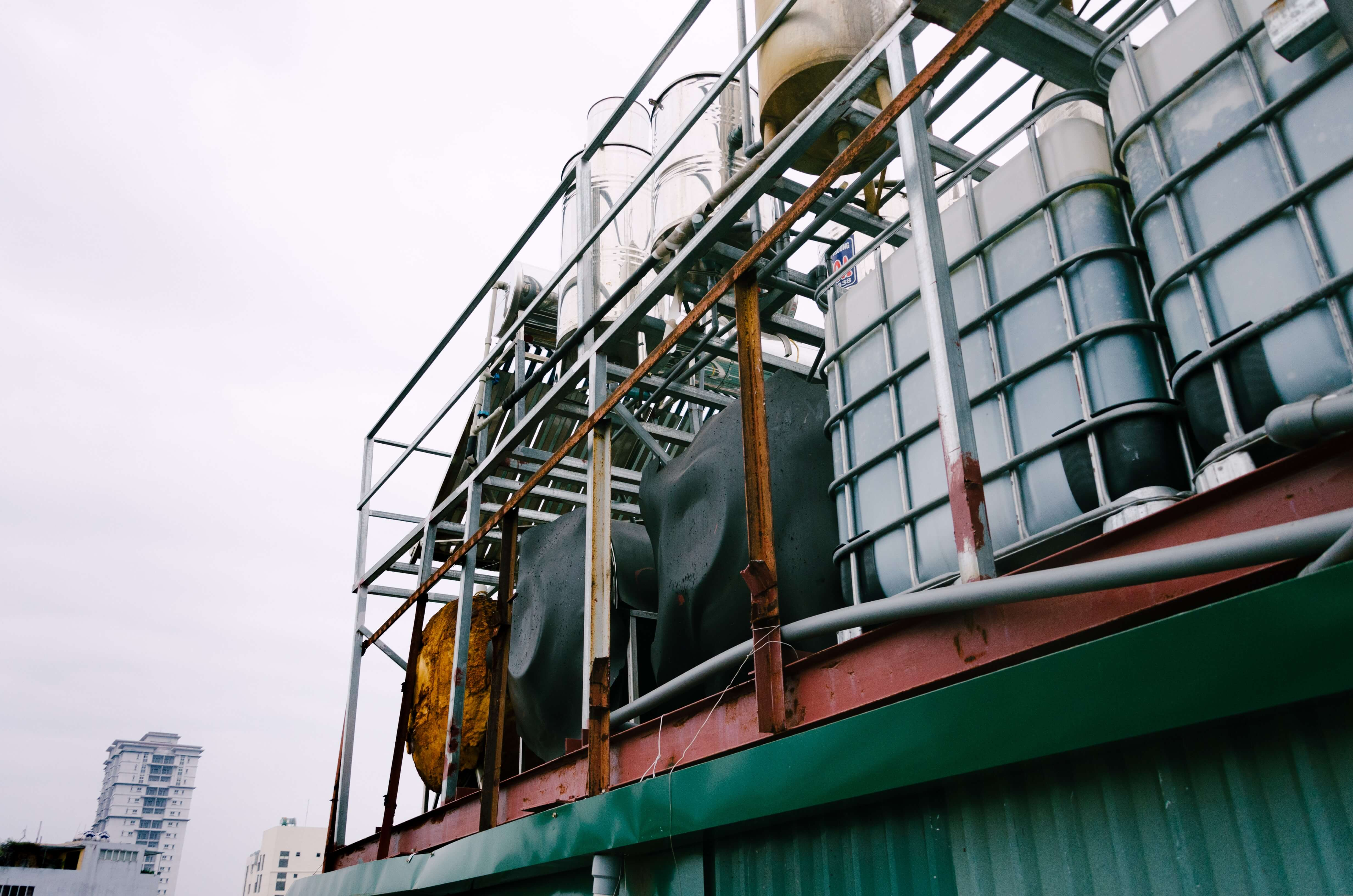 industrial plant outside