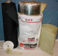 heating and air conditioning duct wrap insulation